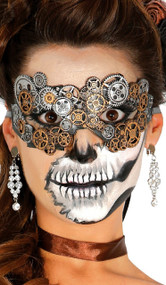 Ladies Steampunk Fancy Dress Eye Mask