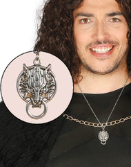 Adults Wolf House Crest Fancy Dress Necklace