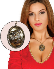 Adults Lion House Crest Fancy Dress Necklace