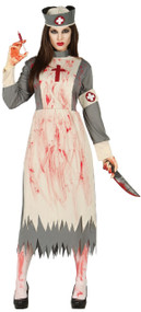 Ladies Vintage Corpse Nurse Fancy Dress Costume