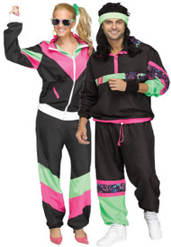 Couples 80s Shell Suit Fancy Dress Costume