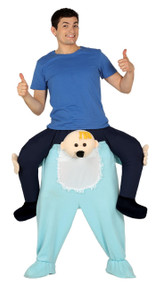Mens Ride On Big Baby Fancy Dress Costume