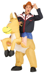 Mens Inflatable Ride On Horse Fancy Dress Costume