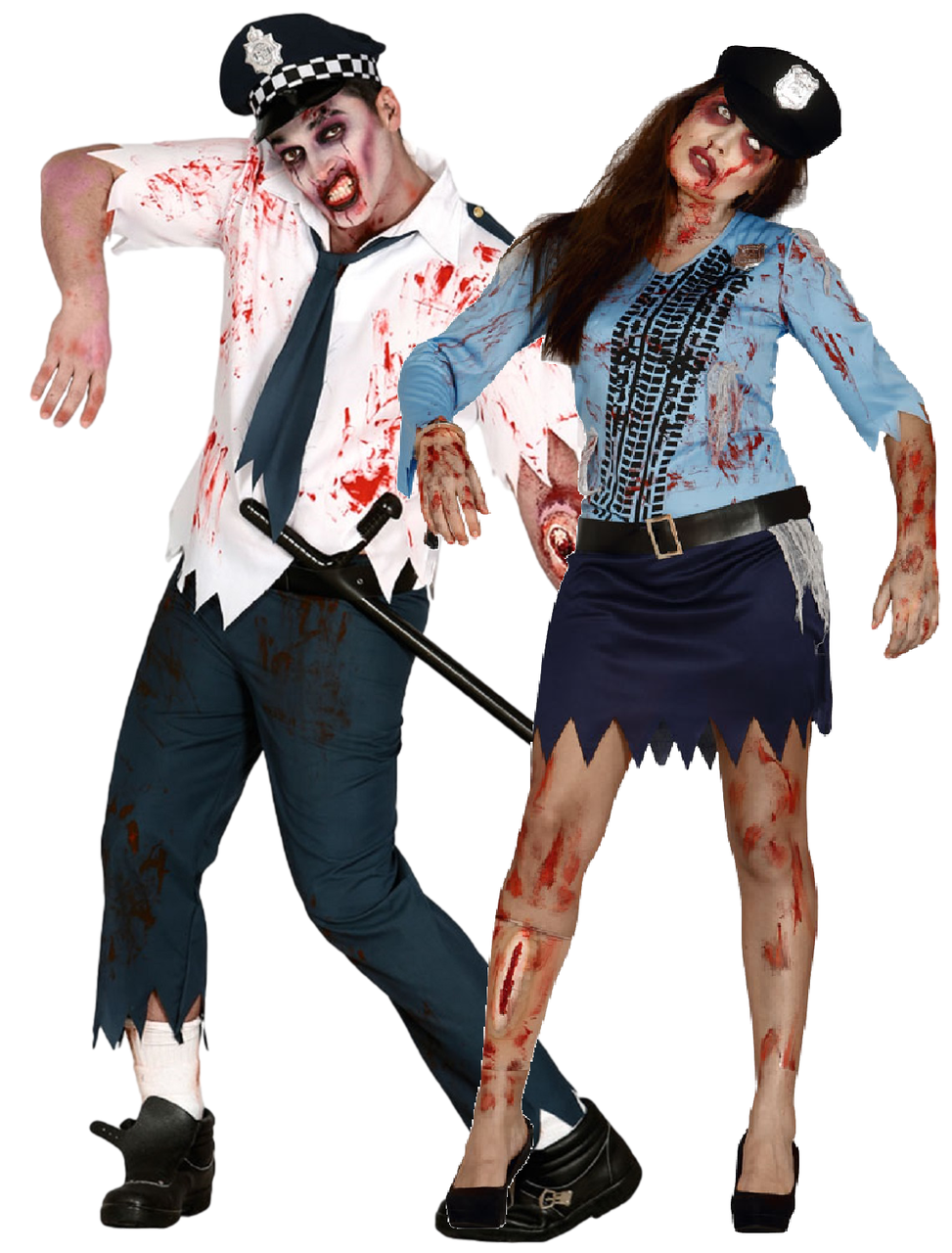 d2fee65e6fadf Couples Zombie Police Officers Fancy Dress Costumes - Fancy Me Limited