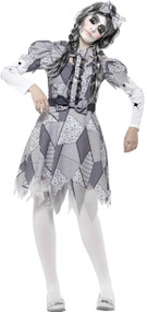 Ladies Damaged Doll Fancy Dress Costume