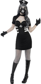Ladies Delirium Nurse Fancy Dress Costume