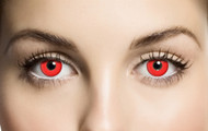 Adults Bloody Red Fancy Dress Eye Wear