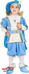 Boys Blue Tudor Prince Fancy Dress Costume
