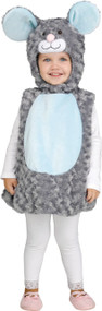 Toddler Fluffy Mouse Fancy Dress Costume