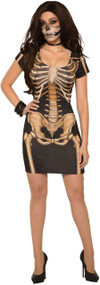 Ladies Mistress Skeleton Fancy Dress Costume