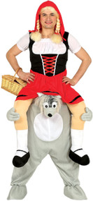 Adults Ride On Wolf Fancy Dress Costume