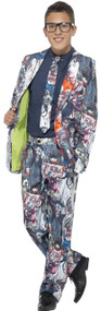 Teen Boys Zombie Suit Fancy Dress Costume
