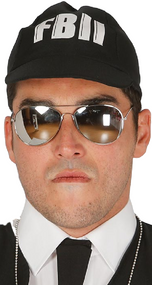 Mens Mirrored Aviator Fancy Dress Glasses