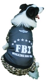Dog FBI Padded Winter Coat