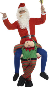 Adults Ride On Elf Fancy Dress Costume