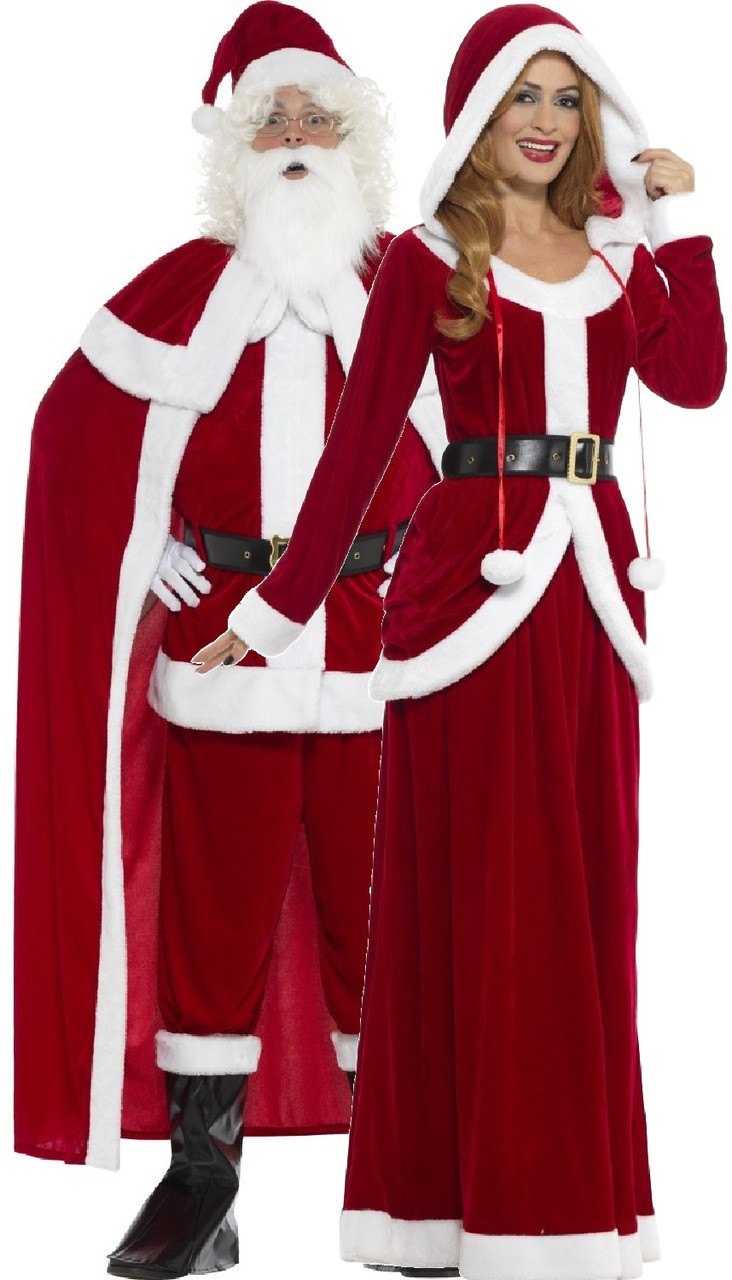 1f7ea20538c67 Couples Deluxe Mr and Mrs Claus Fancy Dress Costume. Previous. Image 1