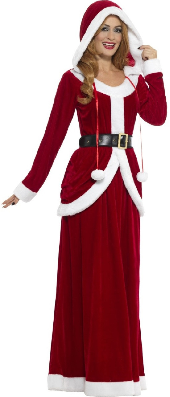 2ed0bc14be4 Couples Deluxe Mr and Mrs Claus Fancy Dress Costume