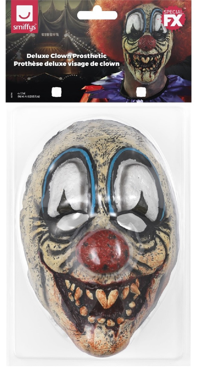 Special FX Clown Killer Face Prosthetic Make Up Accessory