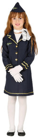 Girls Pilot Fancy Dress Costume