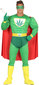 Mens Weed Hero Fancy Dress Costume