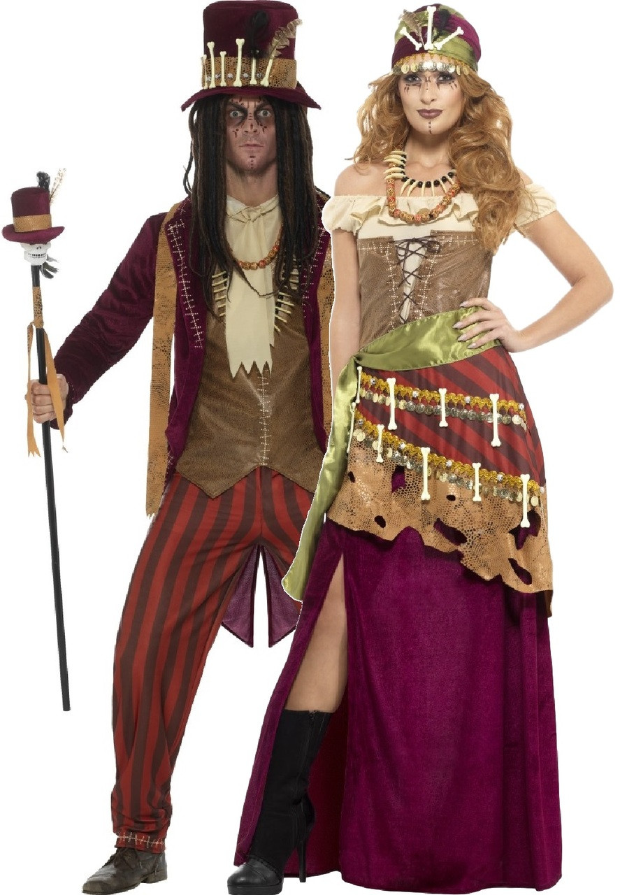Couples Ladies and Mens Punch and Judy Halloween Fancy Dress Costumes Outfits