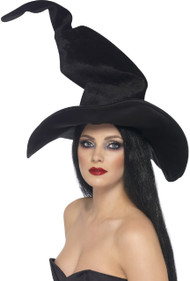Ladies Twisted Witch Fancy Dress Hat