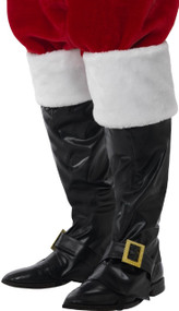Adults Deluxe Santa Fancy Dress Boot Covers