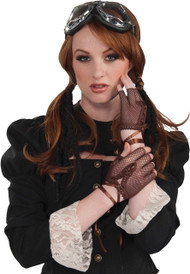 Ladies Steampunk Corset Laced Fancy Dress Gloves