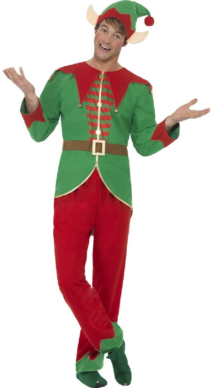 Christmas Elf Costume.Mens Christmas Elf Fancy Dress Costume 1