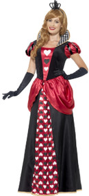 Ladies Royal Red Queen Fancy Dress Costume