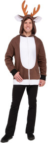Adults Reindeer Fancy Dress Hoodie