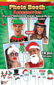 20pc Christmas Photobooth Prop Set