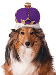 Dog Purple Crown Fancy Dress Accessory