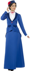 Ladies Victorian Nanny Fancy Dress Costume