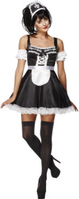 Ladies Flirty Maid Fancy Dress Costume