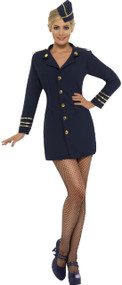 Ladies Flight Crew Fancy Dress Costume