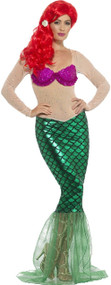 Ladies Deluxe Mermaid Fancy Dress Costume 1