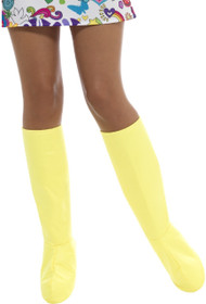 Ladies Yellow GoGo Boot Fancy Dress Accessory