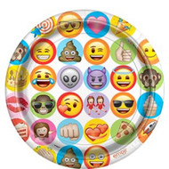 Emoji Party Plates - 22 Cm