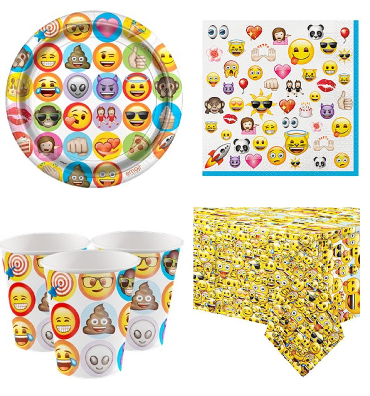 Emoji Party Tableware Kit Image 1
