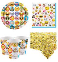Emoji Party Tableware Kit