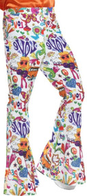 Men's Pop Art Hippie Fancy Dress Trousers