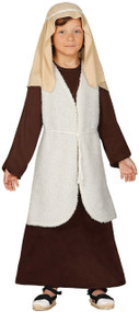 Boys Deluxe Long Brown Shepherd Fancy Dress Costume