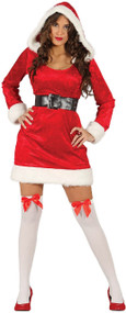 Ladies Momma Claus Fancy Dress Costume