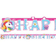 Rainbow Unicorn Party Banner Decoration
