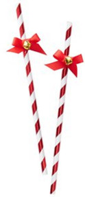 Merry & Bright Christmas Straws With Bells