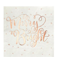 Rose Gold Metallic Party Napkins