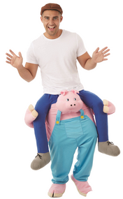 Adult Lift Me Up Pig Fancy Dress Costume