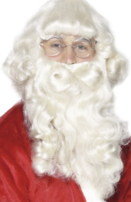 Mens Santa Wig & Beard Fancy Dress Accessory