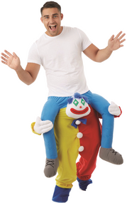 Adult Lift Me Up Clown Fancy Dress Costume